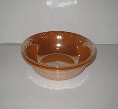 Vintage Fire King Peach Luster Serving Bowls Set of 2 Leaf Pattern