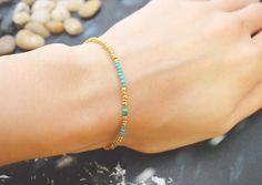 C-067 Gold Beaded bracelet, Seed bead bracelet, Simple bracelet, Modern bracelet/Everyday jewelry/