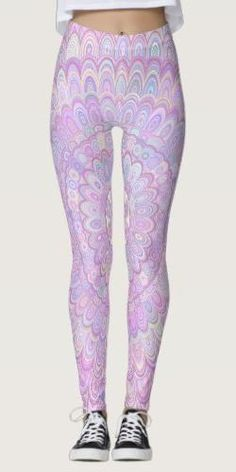 Discover Mandala leggings at Zazzle! Blue Yoga Pants, Yoga Pants Outfit, Patterned Leggings Outfits, Printed Leggings, Boho Outfits, Cute Outfits, Yoga Fashion, Flower Mandala, Leggings Fashion