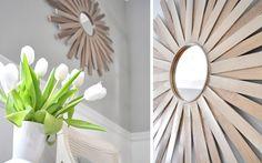 DIY: Decoración de marcos para espejos redondos  |  DECOFILIA.com