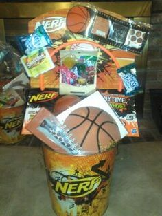 Football themed easter basket basketcasebaskets by angela basketball themed easter basket negle Choice Image