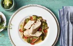 Kuřecí prsa s brokolicí a hlívou ústřičnou Thing 1, Lidl, Healthy Cooking, Ale, Roman, Tacos, Mexican, Meat, Chicken