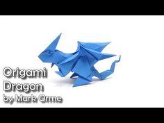Origami Dragon easy - Yakomoga Origami easy tutorial - YouTube Origami And Kirigami, Origami Paper Art, Origami Butterfly, Origami Folding, Origami Flowers, Oragami, How To Do Origami, Useful Origami, Easy Origami Dragon