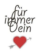 Free printable Valentines Day Card by Hochzeitstante.de  Für immer Dein