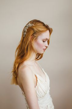 Isabella Comb in Crystal Antique Gold by Jennifer Behr