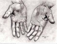 Resultado de imagen para dibujo de las manos de jesus a lapiz