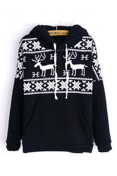 The fawn who stopped cap with thick fleece sweater(5 colors)_Sweatshirts_CLOTHING_Voguec Shop