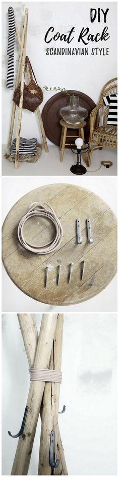 DIY Coat Rack. Minimilist. Scandinavian Home Decor.