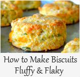 How to Make Biscuits Fluffy and Flaky - I'd leave out the onion for my family but these look incredible!