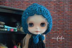 Knitting/Crochet Bonnet/Hats  Blue