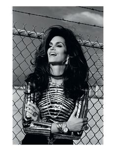 Cindy Crawford by Thierry le Gouès for French Revue de Modes #20
