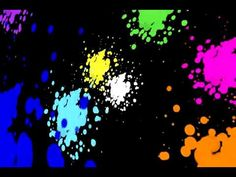 paint splatters: great for Jackson Pollack art! short, good for background while painting