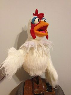 professional Chicken Hand and Rod Puppet by apuppetaday on Etsy