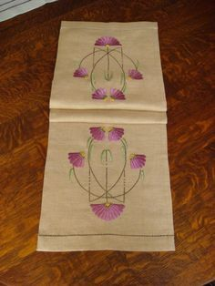 Image result for arts & Crafts embroidered table runner