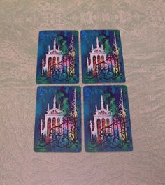 Four Spain Spanish single swap playing card deck by BigGDesigns on Etsy