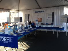 Another angle of the Orange County Research and Advocacy table setup at the Walk!