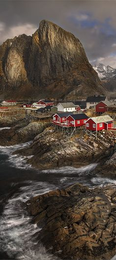 Lofoten Islands, Reine village in Norway . the Cold & the beauty
