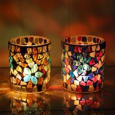 Shop our best value Mosaic Votive Candle Holder on AliExpress. Check out more Mosaic Votive Candle Holder items in Home & Garden! And don't miss out on limited deals on Mosaic Votive Candle Holder! Votive Centerpieces, Glass Votive Candle Holders, Candle Holders Wedding, Votive Candles, Candleholders, Scented Candles, Stained Glass Art, Mosaic Glass, Tea Lights