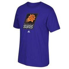 Phoenix Suns Adidas Primary Logo NBA Men T Shirt Purple S, Size: Small