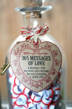 Valentines Day .. 365 Messages Of LOVE. Handmade by KozyWozy