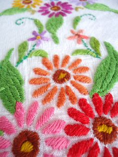 Vintage embroidered tablecloth. $30.00, via Etsy.