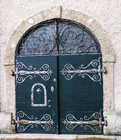Doors with scrollwork. Salzburg