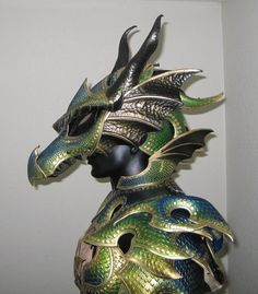 Dragon armor by azmal - Cosplay / Halloween Dragon Armor, Dragon Mask, Dragon Head, Dragon Knight, Cosplay Armor, Cosplay Costumes, Horse Costumes, Larp, Guerrero Dragon