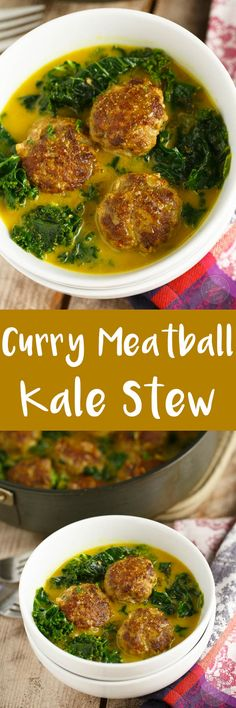 This deliciously comforting curry meatball and kale stew is a paleo-friendly dish that you'll want to make over and over again! Perfect for any night of the week and any season!