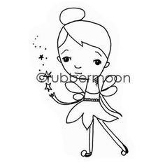 Magical Pixie - ML5611G - Rubber Art Stamp   RubberMoon