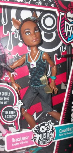 Mattel Monster High Exclusive Music Festival CLAWD WOLF Doll