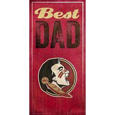 Florida State Seminoles Best Dad Sign, Multicolor