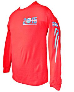 Long Sleeve Shirt Light Orange Stubborn Beaver Tricks Tee Shirt