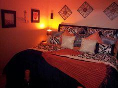 My bed....Black Wbite Orange and Peweter....