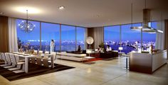 Waterfront penthouse in Pattaya, Thailand. Penthouse For Sale, Luxury Penthouse, Luxury Condo, Luxury Homes Dream Houses, Luxury Apartments, Arquitetos Zaha Hadid, Dream House Exterior, Pent House, Modern House Design
