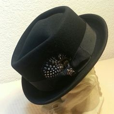 """Classic style felt Hat! Christy's crown series by Tony Merenda. If you need a great quality hat in your wardrobe, this is it. 7 3/4"""" inside Christy's Accessories Hats"""