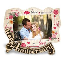 Anniversary Elegant Photo Frame is an exquisite brown photo frame with a funky animated coloured design along with an anniversary greeting message. This photo frame is one of those things that can make your wedding anniversary gift special yet out-of-the box.