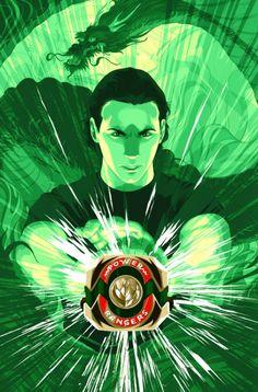 Green Ranger Art by Goni Montes Go Go Power Rangers, Power Rangers Comic, Mighty Morphin Power Rangers, Power Ragers, Green Power Ranger, Gurren Laggan, Tommy Oliver, Bayonetta, Cultura Pop