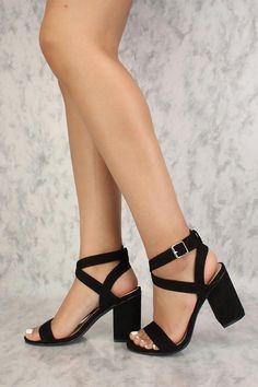 056f59bfe37e Sexy Black Chunky Heels Single Sole  Highheels Chunky Heels Outfit