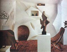 // 1968. Inside the home of Brazilian sculptor #LuizaMiller.
