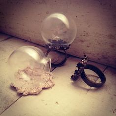 1 Pc Clear Sphere Bottle Ring Antique by ingredientsforlovely