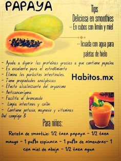 Los beneficios de la papaya! :)