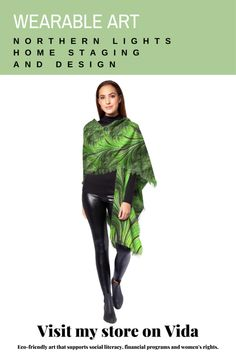 Wearable Art | Northern Lights Home Staging and Design My Design, Custom Design, Beautiful Handbags, New Shop, Home Staging, Fractal Art, Wood Wall Art, Unique Art, Wearable Art