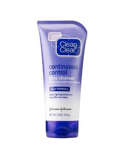 Clean & Clear Continuous Control Acne Cleanser, 5-Ounce Tube***Size: Pack of 1.Fights breakouts long after you wash,Benzoyl Peroxide (10%),Pore-penetrating technology,Helps prevent future breakouts,Daily formula,.