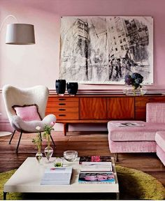 the HUNTED INTERIOR - Sigh. That art. That credenza. That CHAIR.