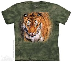 men's or woman's tshirt tiger close encounter by LIBERTYHORSE, $11.99