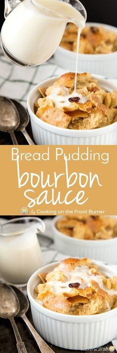 You don't need the Kentucky Derby to have a warm Bourbon Bread Pudding with an amazing bourbon sauce! Was awesome, but directions forgot when to add vanilla. Impressive Desserts, Easy Desserts, Delicious Desserts, Dessert Recipes, Awesome Desserts, Individual Desserts, Bourbon Bread Pudding, Bread Pudding Sauce, Pudding Cake