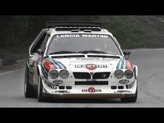 The Delta was a group B rally class which races in the WRC in 1985 and It is moved by a liter 4 cylinders engine (supercharged and turbocharged) which is able to produce 480 bhp at 8400 rpm and a max torque of 490 Nm at 5000 rpm. Martini Racing, Lancia Delta, Thing 1, Rally Car, Cars And Motorcycles, Race Cars, Vehicles, Youtube, Group