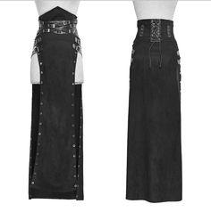 Punk Split Skirt for women,Skirts,Bottoms Gothic Fashion, Look Fashion, Street Fashion, Steampunk Rock, Costume Viking, Gothic Mode, Diy Kleidung, Split Skirt, Sexy Skirt
