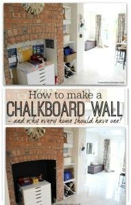How to make a chalkboard wall  - before and after pictures and a step by step guide