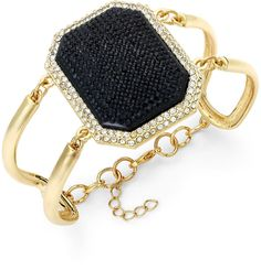 ABS by Allen Schwartz Gold-Tone Jet Stone Crystal Cutout Flex Bracelet on shopstyle.com Jet Stone, Abs By Allen Schwartz, Review Fashion, Chanel Boy Bag, Jewelry Watches, Fashion Jewelry, Shoulder Bag, Wallet, Crystals